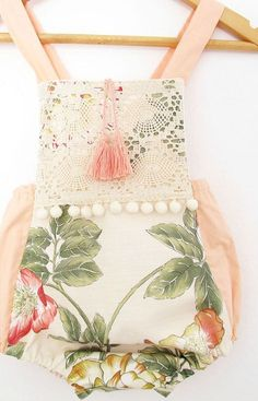 Konstantza is the talented creator behind VivaBohoKids on Etsy. Her clothing combines pom poms, tassels, florals, lace and embroidery for a fun and g