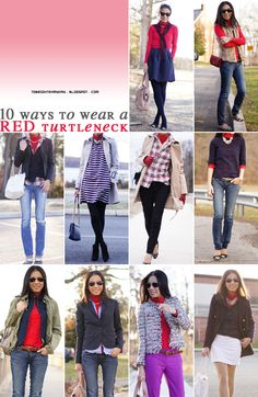 10 Ways to Wear a Red Turtleneck