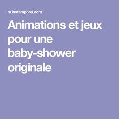 Animations et jeux pour une baby-shower originale