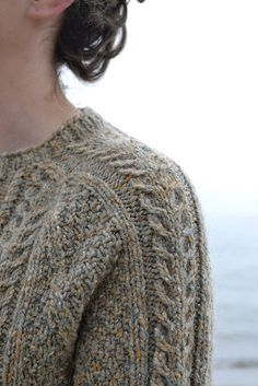 Ravelry: Porter Cardigan pattern by Beatrice Perron Dahlen. Knit in Peace Fleece (color Tundra).
