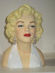 Marilyn Monroe Head Vase White Dress