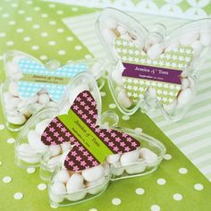 Personalized Butterfly Acrylic Favor Box by Beau-coup
