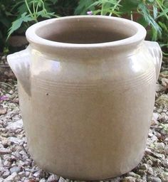 French grease confit pot, glazed earthenware