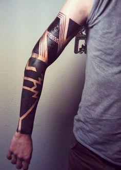 Not Shoulder Blackwork tattoo sleeve
