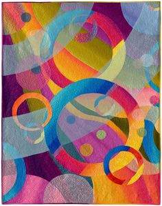 """It All Comes Around"" by Karlyn Bue Lohrenz of Billings, Montana. Mid-Atlantic Quilt Festival."