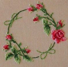 The most beautiful cross-stitch pattern - Knitting, Crochet Love Cross Stitch Borders, Cross Stitch Rose, Cross Stitch Flowers, Cross Stitch Charts, Cross Stitch Designs, Cross Stitching, Cross Stitch Embroidery, Embroidery Patterns, Hand Embroidery