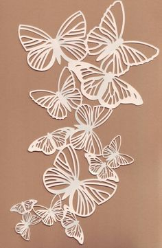 Discover thousands of images about gorgeous! Yes, this would be too difficult for me to cut out of paper but I'd love to try to embroider it. Do I hear a pillow calling my name? Kirigami, 3d Zeichenstift, Stencils, Butterfly Cards, Butterfly Cutout, Butterfly Stencil, Diy Butterfly, Butterfly Pendant, Butterfly Design
