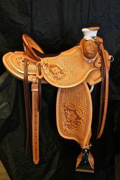 Custom buckaroo-type saddle built on a Will James tree