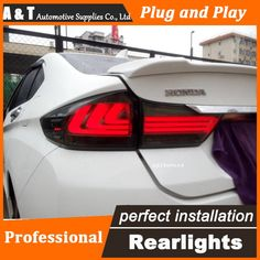 286.00$  Watch here - http://ali5vv.worldwells.pw/go.php?t=32659352239 - A&T Car Styling for Honda city LED Tail Lights 2015 Tail Light new city Rear Lamp DRL+Brake+Park+Signal led lights 286.00$