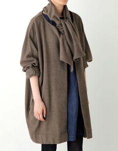 fog linen work / item number:LWR062-WLBR 【FLW】 エロディ ドルマンスリーブコート ボワ price:29,400円 (税込)
