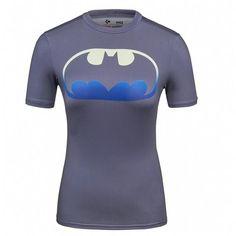 Ladies DC Comics Marvel Superman Batman/ Wonder Women's Fitness joger T Shirt Girls Bodybuilding Compression Tights Tee Tops
