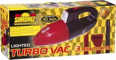 #vacuums #Turbo Vac The Detailers ChoiceIncludes: wide mouth attachment crevice tool attachment #flexible tube attachment powerful 12 volt hitorque motor spotligh...