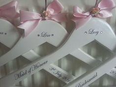 Personalised Wedding, Bridal, Bridesmaid , Keepsake, Prom Coat Hangers https://www.facebook.com/weddinghangermanagement