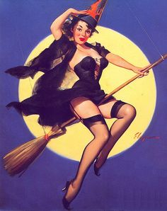 witch pin up, this would be a cool tattoo