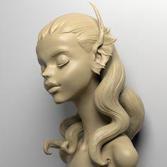 ArtStation - Sketch, Qi Sheng Luo 3d Sketch, Sketches, Character Art, Character Design, Sculpture Head, Clay Art, Pottery Art, Art Tutorials, Art Inspo