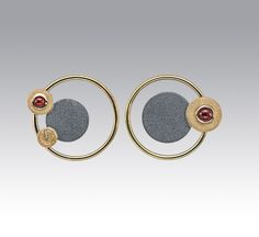 Janis Kerman Design | Oxidized sterling silver, 18kt yellow gold, carnelian