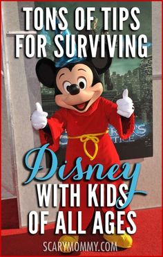 Tips for Surviving Disney World With Kids Navigating Disney World or Disneyland with kids can be. a challenge. This collection of tips in the Scary Mommy travel guide will ensure that you leave Disney with kids in one piece. Disneyland Vacation, Disney Vacation Planning, Disney World Planning, Walt Disney World Vacations, Disney Parks, Vacation Ideas, Vacation Planner, Trip Planning, Disney World Tips And Tricks