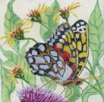 Butterfly needlepoint canvas from Melissa Prince Designs