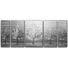 Five Little Trees 5 Piece Metal Graphic Art Set
