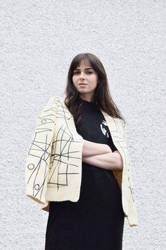 roco sweater   cream wool by lounorthwest on Etsy