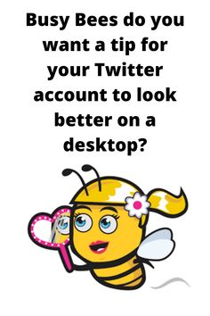 """Want a tip for your Twitter account to look better on a desktop? We are all busy bees at the moment work wise, juggling lots of tasks including social media. So when someone arrives on your Twitter account you want it to look it's very best. I have a little tip to help you look even better in just a few steps. So instead of a couple of lines of text in your Twitter Bio, you will have four """"nicely set out"""" lines of text and your Bio will be far easier to read on desktop too!"""