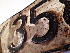 Decorating with Vintage License Plates