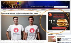Ontario Kids Stick It To Fast Food Urge Us All To Join In Boycott - Great-Ads