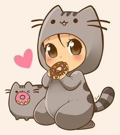 Pusheen by nekoshiei.deviantart.com on @DeviantArt