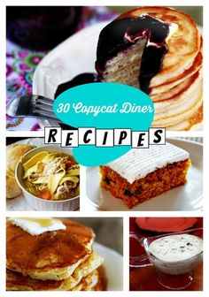 There's nothing quite like 50s diner foods! These 30 Copycat Diner Recipes are sure to make you feel nostalgic and curb your craving for comfort food!