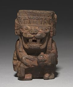 plug for the bottom of Container in the form of a Sacrificer, 600-1000                                                Peru, Middle Horizon, Wari Culture, 7th -11th century