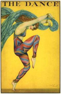 BK 1927 Long Legged Sexy Rainbow Hippi Dancer Fashion Stage Link Art Deco Poster | eBay