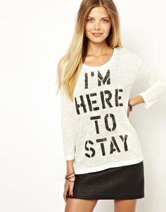 i'm here to stay. #tees