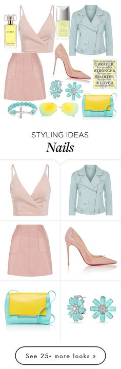 """Untitled #207"" by galina-atanasova on Polyvore featuring Rebecca Minkoff, Christian Louboutin, Bling Jewelry, Delpozo, Victoria Beckham, Estée Lauder and Christian Dior"