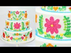 Embroidery Wedding Cake Decorating - CAKE STYLE - YouTube
