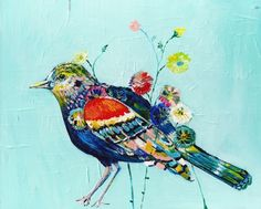 paint a bird a day challenge! (Starla Halfmann)