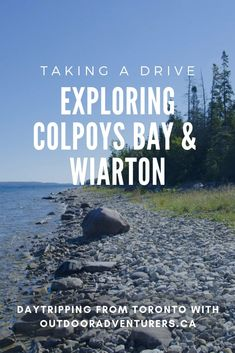 When you go exploring Colpoys Bay and Wiarton, north of Toronto for a day trip, you get to play tourist without the crowds. #daytrips #Toronto #traveldestinations #Ontario #Canada #ExploreCanada #exploring #roadtrip
