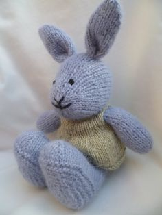 Lucy a hand knitted bunny rabbit by JustPeri on Etsy
