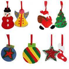 Des petites formes en bois à peindre pour décorer le sapin de Noël. Voici huit motifs en bois à peindre pour réaliser des décorations de Noël : sapin, boule, ange, bonhomme de neige, botte de Noël, étoile et surtout père Noël. Les enfants pourr