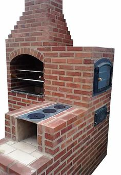 Masonry Barbecue: 30 Amazing Projects - See That .- Churrasqueira de alvenaria: 30 Projetos Incríveis – Veja Aqui Masonry BBQ: 30 Amazing Projects – See Here - Outdoor Oven, Outdoor Cooking, Masonry Bbq, Outdoor Rooms, Outdoor Living, Pizza Oven Fireplace, Fireplace Brick, Barbecue Design, Brick Bbq