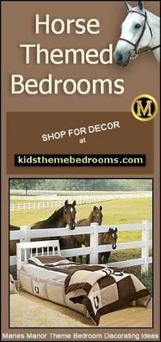 Variety of theme choices fall under the rustic style - Log cabin in the Woods - North woods camping theme - Camping Theme Bedroom Ideas - Western - cowboy theme - South Western style - Cowgirl Bedroom Ideas - On the… Horse Themed Bedrooms, Bedroom Themes, Bedroom Decor, Bedroom Ideas, Themed Rooms, Bedroom Designs, Kids Bedroom, Horse Wallpaper, Wallpaper Murals