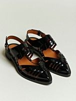 Givenchy Womens's Patent Leather Pointed Sandals... flat & fabulous!! ... NEED!