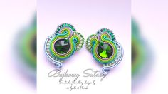 Green emerald by Soutachewithpassion on Etsy Handmade Jewellery, Unique Jewelry, Unique Gifts, Handmade Gifts, Soutache Jewelry, Emerald Green, Trending Outfits, Etsy, Accessories