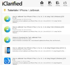 iClarified Apple tutorials including various guides on how to Jailbreak your Apple devices