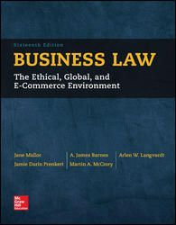 BUSINESS LAW de Jane Mallor. Throughout its 80 years of existence, this book has been a leader and an innovator in the fi elds of business law and the legal environment of business. One reason for the book's success is its clear and comprehensive treatment of the standard topics that form the traditional business law curriculum. Cote : 3-3 MAL