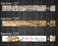Etsy Shop Banners  Banner and Avatar   Made to by IdrawUprint, $4.00