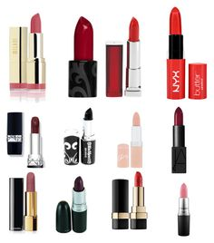 """""""Lipstick"""" by nicole-nicholas-dills on Polyvore featuring beauty, Maybelline, Rimmel, NARS Cosmetics, Chanel, MAC Cosmetics and Dolce&Gabbana"""