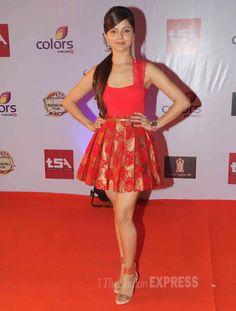 Rubina Dilaik at the Television Style Awards.