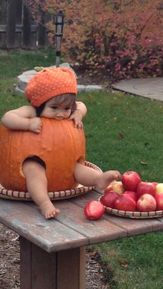 Fall Pumpkin Cute Baby