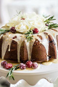 Christmas Progressive Dinner - Mom's Cranberry Bundt Cake - Orange Glaze