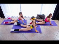 10 Minutes-Hot Workout-Fitness Class-She is very hot